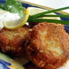 COD AND PANCETTA HAM FISHCAKES