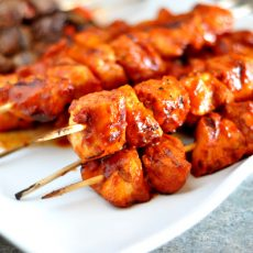 CHICKEN BBQ KEBABS