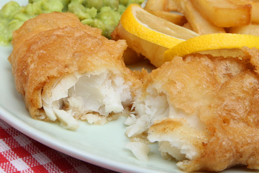 Large skinless beer battered cod fillets dining for Deep fry fish batter